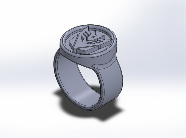 Large Icon Decepticon Ring 3d printed