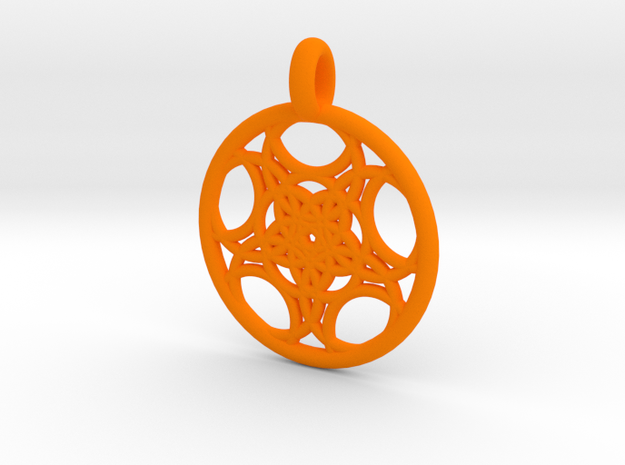 Euanthe pendant 3d printed