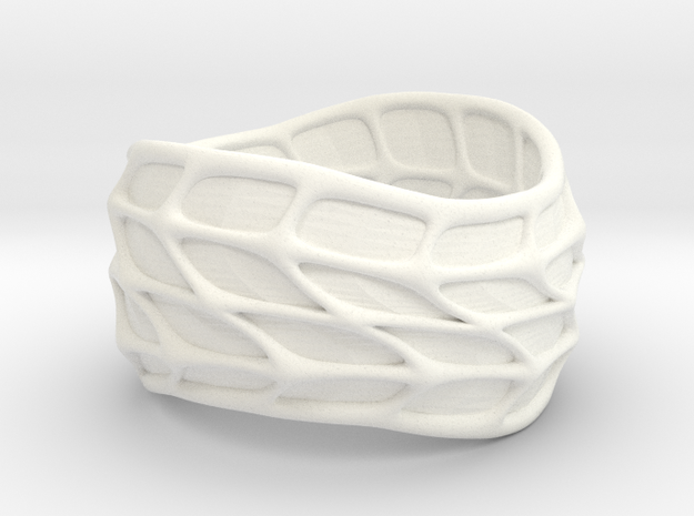 Panel Twist Ring (sz 7) 3d printed