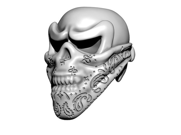 Skull Bead - Bandit 3d printed Digital Preview
