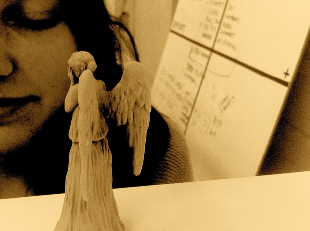 Some Call Me a Weeping Angel.. 3d printed BLINKED!