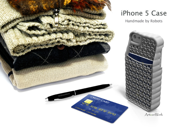 "iPhone 5 - ""Sweater"" Case with Pocket 3d printed"
