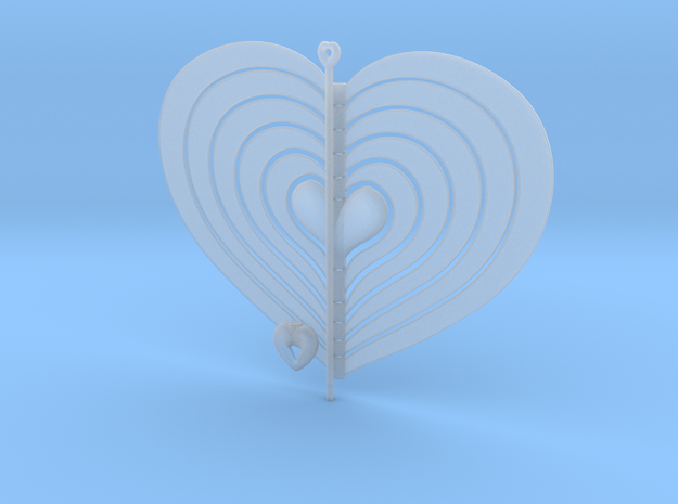 Heart Swap Spinner Flat - 15cm 3d printed