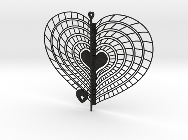 Heart Swap Spinner Spiral Ribs - 15cm 3d printed