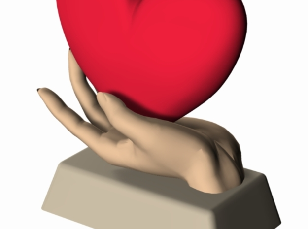 Heart in Hand 1 3d printed