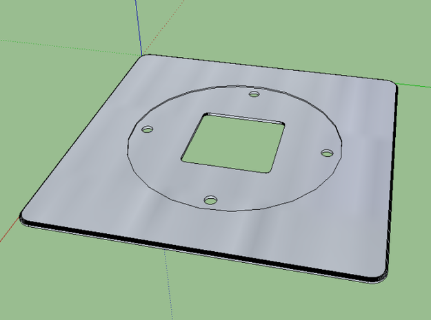 Nest Thermostat Wall Plate 3d printed