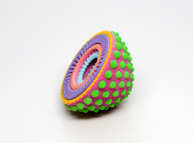 Geometric Geode - imaginary rock collection 3d printed