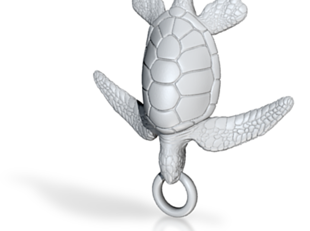 Sea Turtle Pendant 3d printed