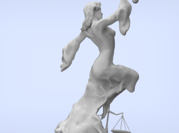 Justice Statue (small) 3d printed