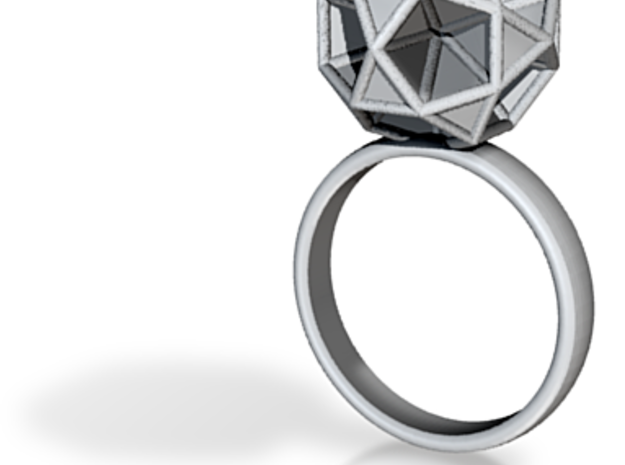 Polyhedron Ring Size 6 3d printed