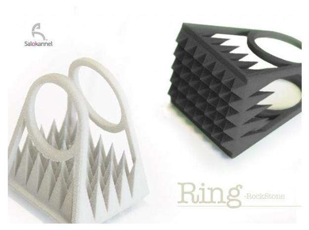 RockStone - ring size 7 3d printed Size 7