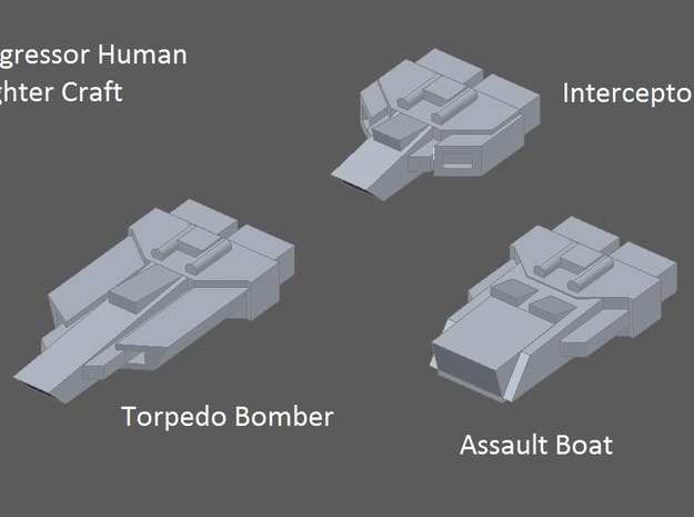 10 Aggressor torpedo bombers 3d printed faction preview