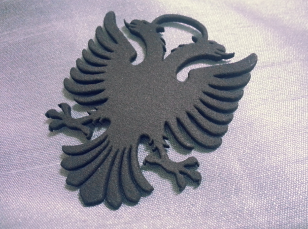 Double Headed Eagle - key chain / hanger 3d printed