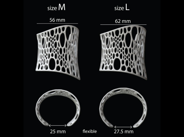 Subdivision Cuff sz M 3d printed sizing guide