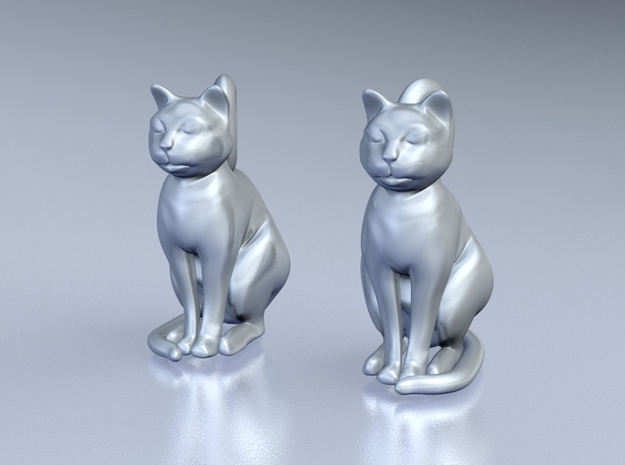 Cat Earrings 3d printed