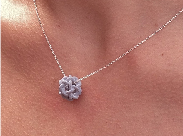 Nibbly Nobbly 3d printed in alumide as pendant (chain not included)