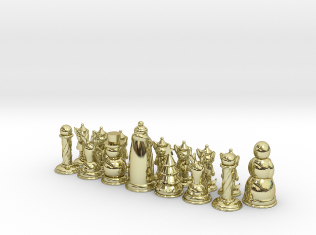 Chess365-Red Half 3d printed