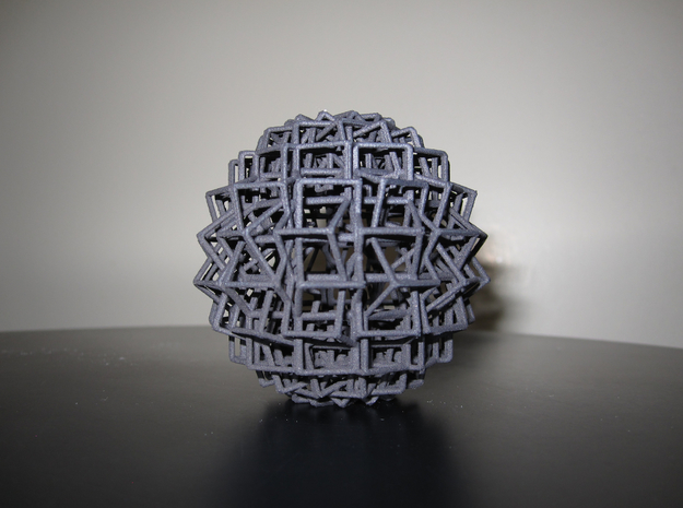 Cube Ball Ornament 1.1 3d printed Side View