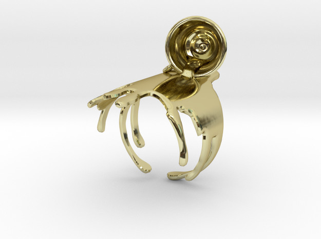 Spilled-Tea Ring Size 6 3d printed