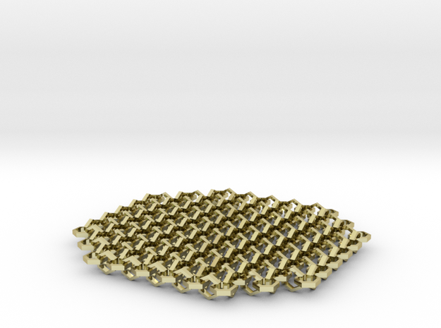 Chain Mail Coaster 3d printed