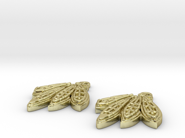 Blackhawks Earrings 3d printed