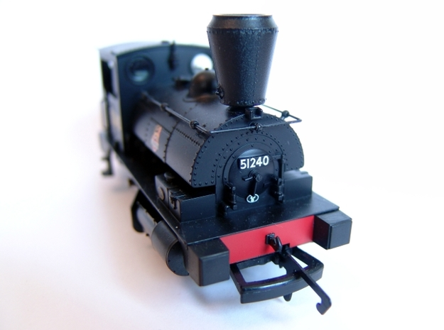 "Spark Arrestor for the L&YR ""Pug"" 3d printed Fitted to a Hornby R3024 model"