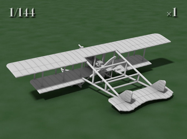 1/144 Savoia-Pomilio Farman 1914 3d printed Computer render of the actual model
