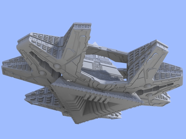 Stargate - Ha'Tak (80mm for WSF) - One Part 3d printed