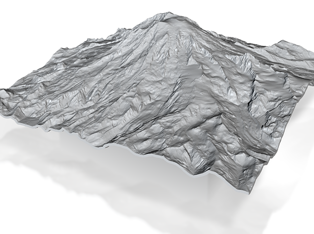 8'' Mt. Rainier Terrain Model, Washington, USA 3d printed