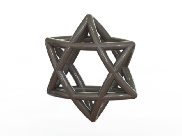 Star Of David earrings (pair) 3d printed Steel (rendered)