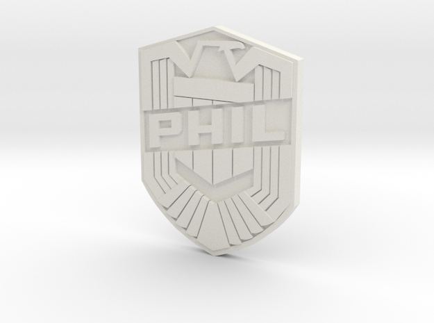 Phil Badge (custom) 3d printed