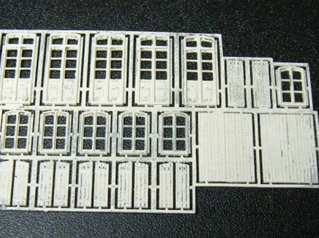 Gare CfD - Roof + Details ( Nm Gauge ) 3d printed doors, windows and shutters undercoated