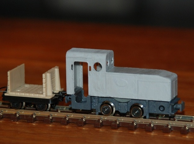 Deutz ML 128 (H0e) 3d printed without wheels and without lorry / ohne Räder und ohne Lore