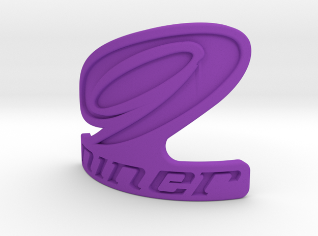 Niner bicycle front logo 3d printed