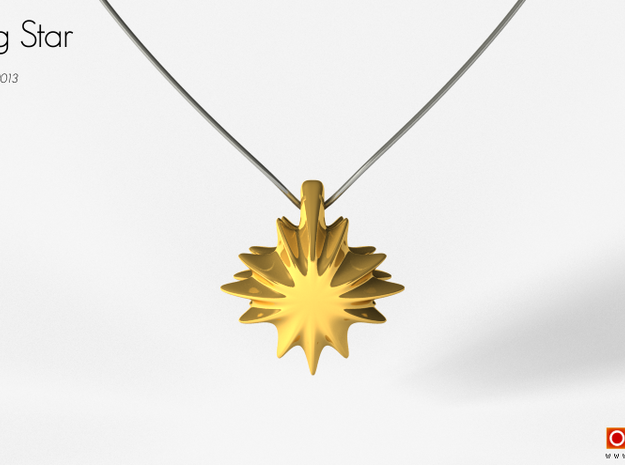 Shining Star Pendant #2275 3d printed