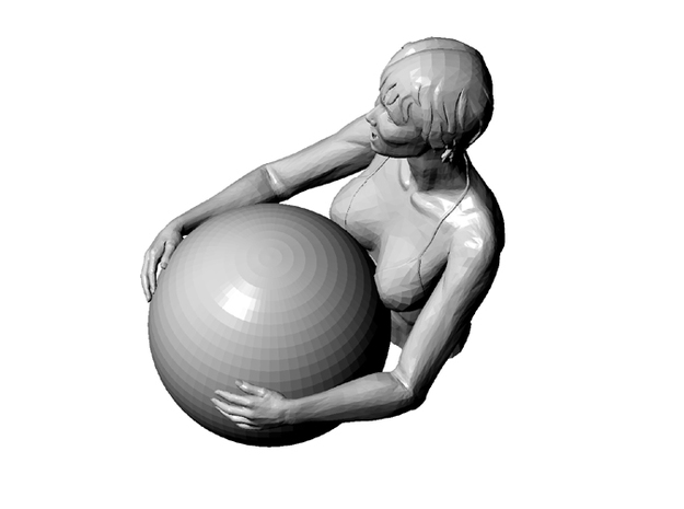 Bathers girl 3d printed above