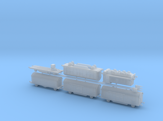 "K5 (E) ""Leopold"" Ammo Train 1/285 6mm 3d printed"