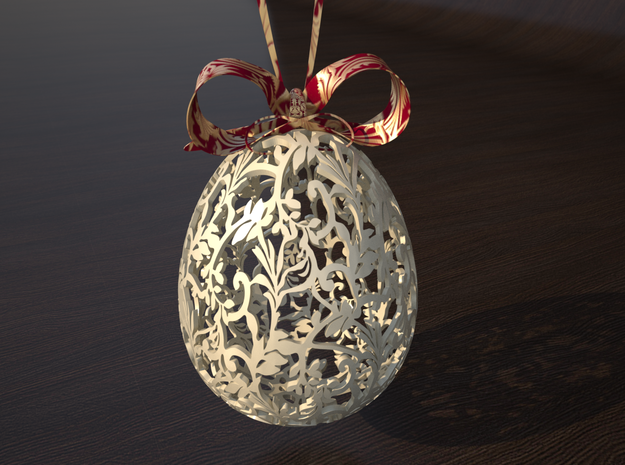 Victorian Easter Egg 3d printed Tabletop rendering