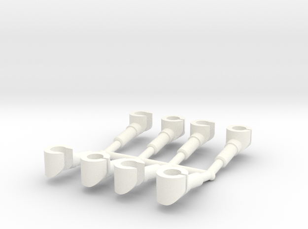 4 pairs customized hands for mini-figures. 3d printed