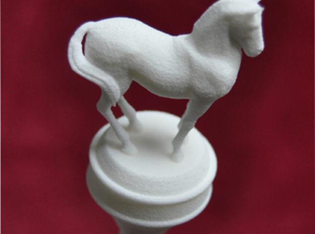 Hairstick with Horse (large size) 3d printed Detail