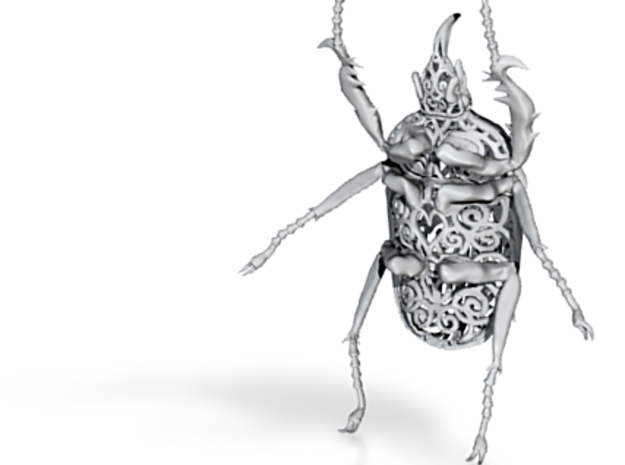 Goliath Beetle solid filigree - 9cm 3d printed