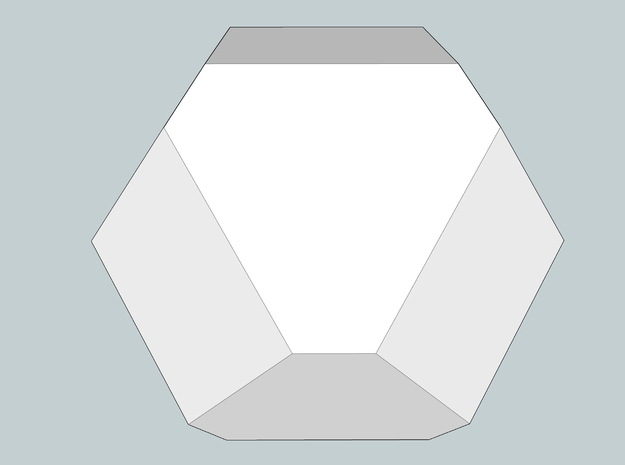 Cuboctohedral Fourteen-sided Die 3d printed Sketchup Render