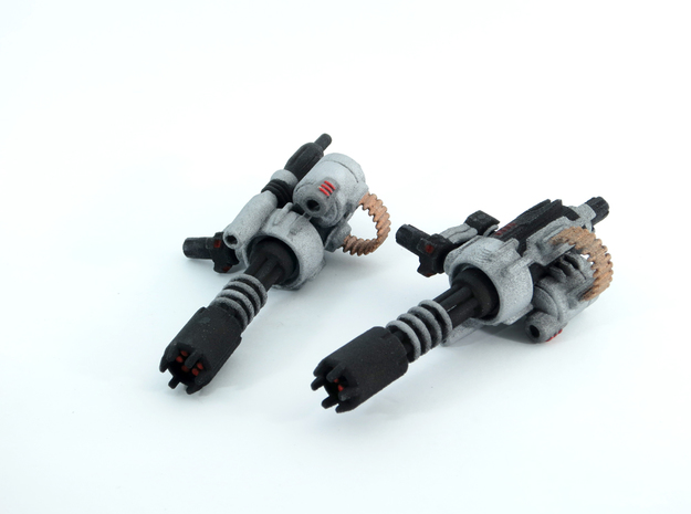 D.R.E.A.D Suppressor miniguns 3d printed painted WSF models.