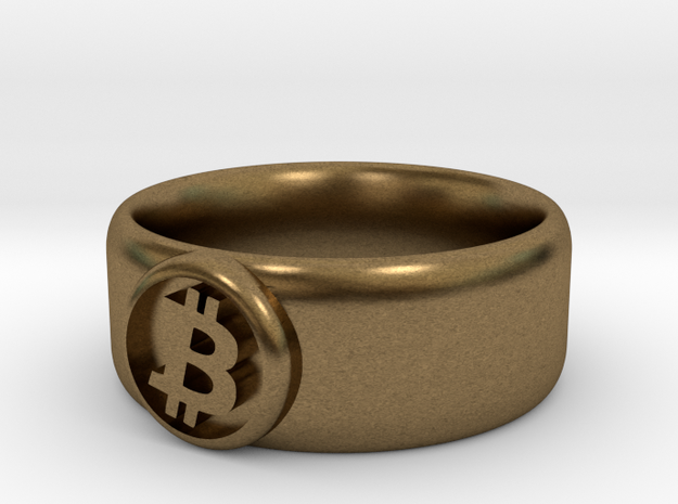 Bitcoin Ring (BTC) - Size 9.0 (U.S., 18.95mm dia) 3d printed