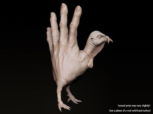 Hand Turkey 3d printed digital Hand Turkey (Maleagris Manus)