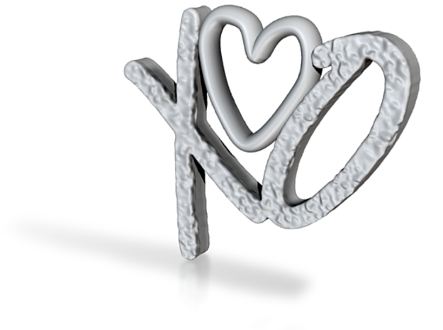 Hug and Kiss Pendant 3d printed
