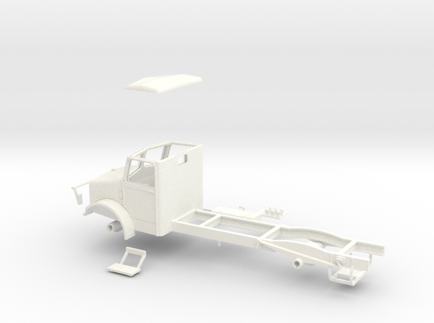 1:43 Bedford OY Cab & Chassis (single fuel tank) 3d printed
