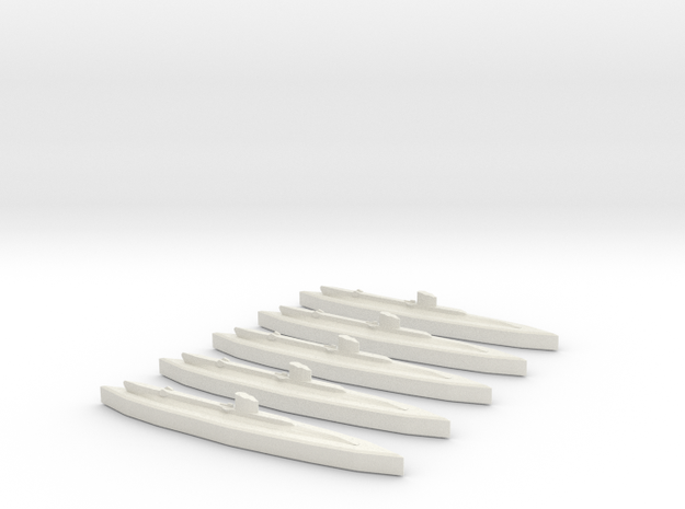 Upholder (British U Class) 1/1800 x5 3d printed Comes unpainted. Set of 5 submarines.