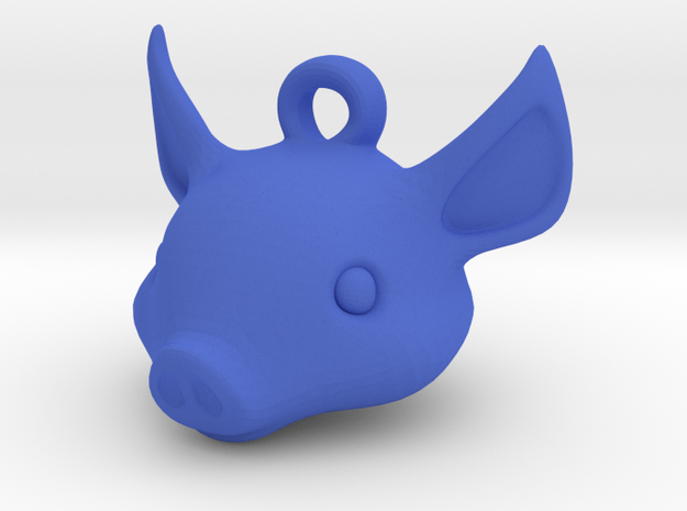 Pig key chain 3d printed
