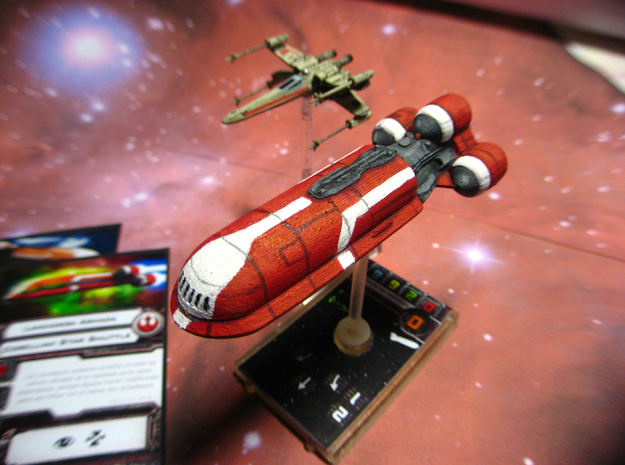 Senate Starship 3d printed Final model, printed and painted.